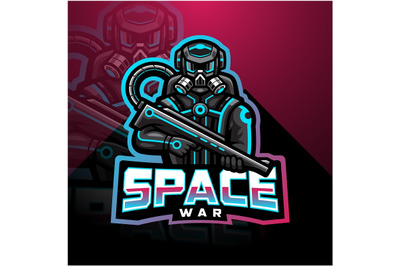 Space war esport mascot logo
