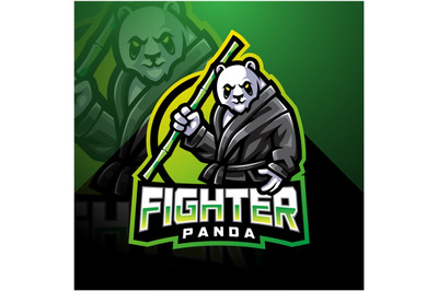 Panda fighter esport mascot logo design