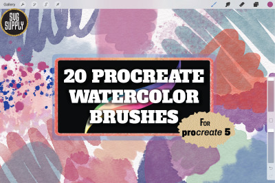 Procreate Watercolor Brushes for Painting and Lettering