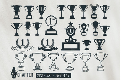 trophy cup and medal award svg bundle