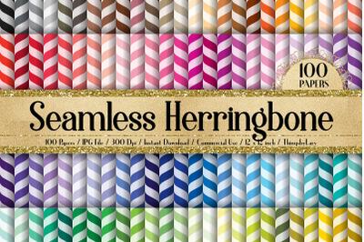 100 Seamless Herringbone Chevron Canvas Print Digital Papers