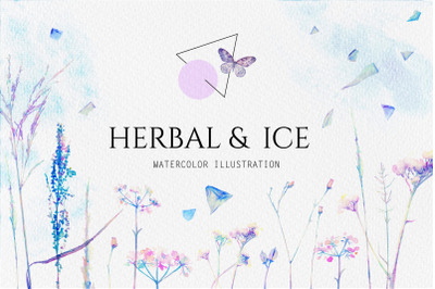 Watercolor floral design collection NEW!!!