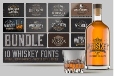 Whiskey Fonts Bundle