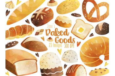 Watercolor Bread Clipart