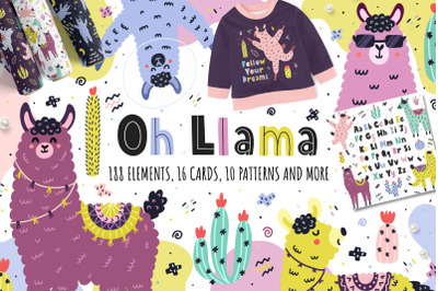 Oh Llama Graphic Pack