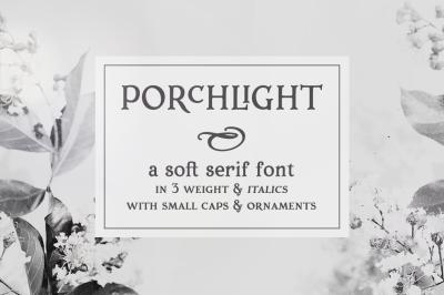 Porchlight trendy serif font