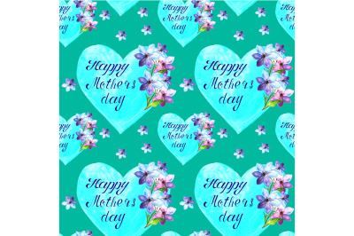 Seamless Happy mother's Day pattern
