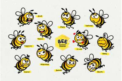 Bee Expression Character