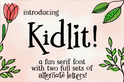 Kidlit: a fun serif font!