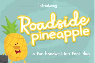 Roadside Pineapple Font Duo