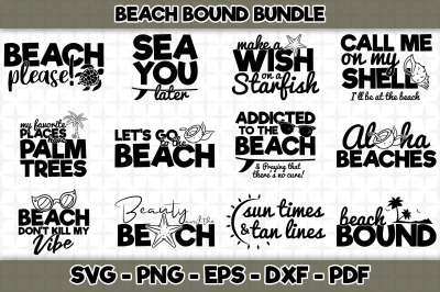 Beach Bound SVG Bundle - 12 Designs Included