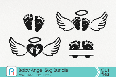 Baby Angel Svg Bundle