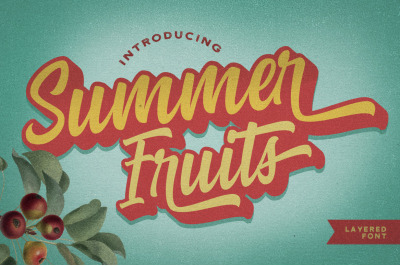 Summer Fruits - Layered Font