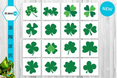 Shamrocks Bundle Svg, St Patricks Shamrocks Bundle