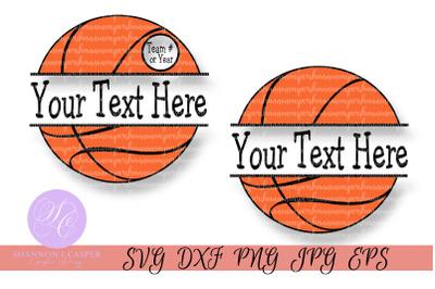 Basketball SVG Split Monogram