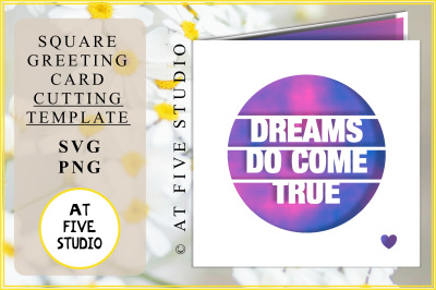 Dreams Do Come True Greeting Card Papercutting Template