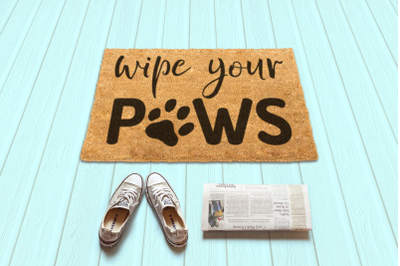 Wipe Your Paws Doormat | SVG | PNG | DXF | EPS