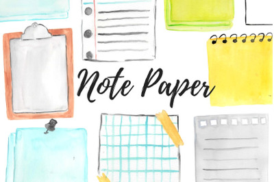 Watercolor Notepad clip art