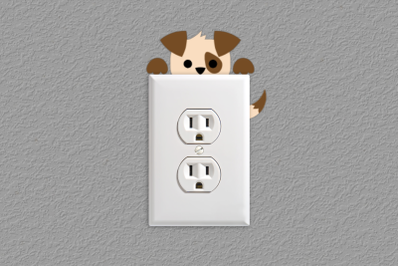 Puppy Light Switch and Outlet Decoration | SVG | PNG | DXF | EPS