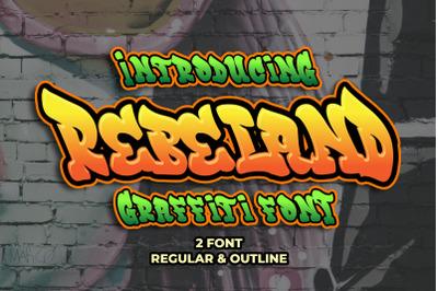 Rebeland - Graffiti Font