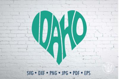 Idaho heart, Svg Dxf Eps Png Jpg, Cut file