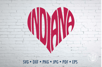 Indiana heart, Svg Dxf Eps Png Jpg, Cut file