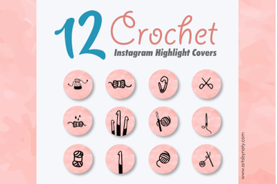 12 Crochet Instagram Highlight Covers