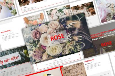 ROSE - Creative Wedding PowerPoint Template