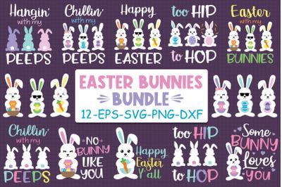 Easter Bunnies Bundle Svg, Bunny Bundle Svg