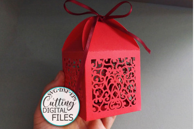 Wedding Favor Box Party Candy gift box laser cut svg template