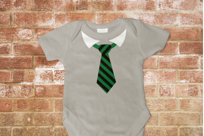 Striped Tie with Collar | SVG | PNG | DXF | EPS