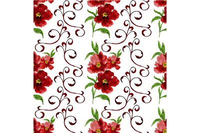 Seamless pattern on a white background
