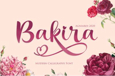 Bakira - Modern Calligraphy Font