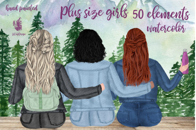 Plus size girls clipart, Best friends clipart, Bff clipart
