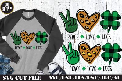 Peace Love Luck SVG Cut File