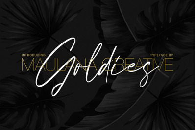 Goldies Signature Font