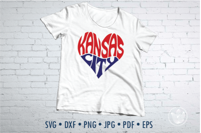 Kansas City heart, Svg Dxf Eps Png Jpg, Cut file, svg heart