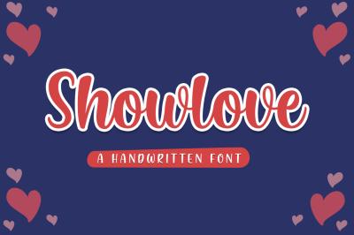 Showlove - a lovely font