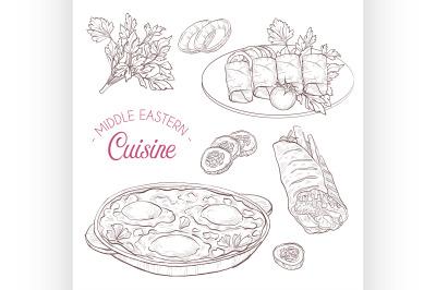 Middle Eastern cuisine, arabian dishes. 6
