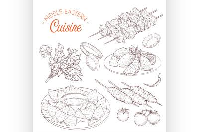 Middle Eastern cuisine, arabian dishes. 8