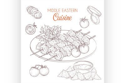 Middle Eastern cuisine, arabian dishes. 9