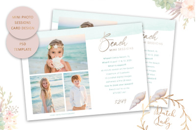 PSD Photo Session Card Template #62