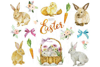 Easter Watercolor Collection Set