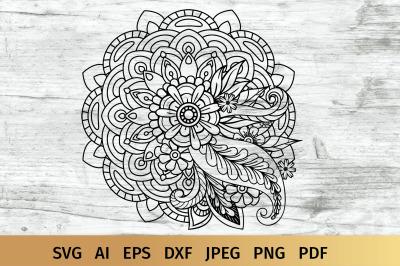 Floral Mandala SVG