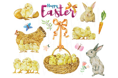 Easter Watercolor Collections Set