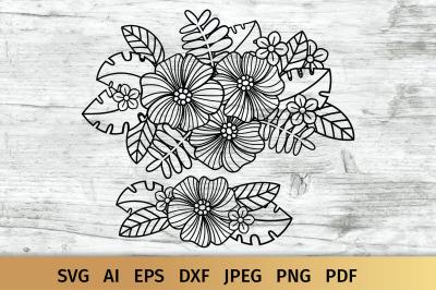Flowers SVG, Floral bouquet SVG