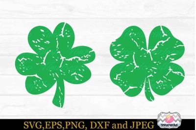 St Patrick's Day, Distressed Shamrock, Irish svg, Grunge svg, St Paddy
