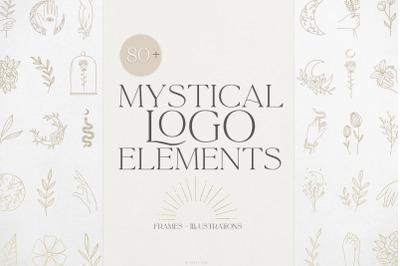 Mystical Logo Elements and Frames 80+ vector illustrations