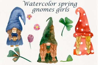 Garden gnome clipart. Gnomes with shamrock