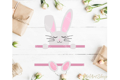 Easter monogram svg, Bunny monogram svg, easter svg